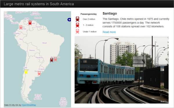 Walkthrough: Thematic map with Leaflet controls and Bootstrap