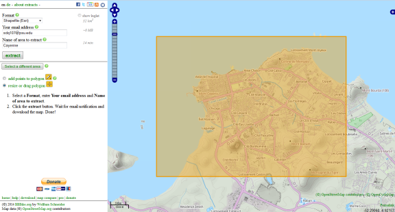 OSM downloads from BBBike extract service