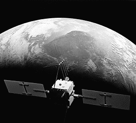 GPS Satellite orbiting the earth