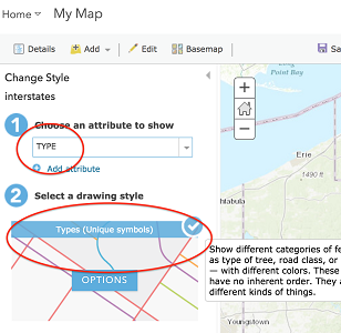 Symbolizing by an attribute in ArcGIS Online