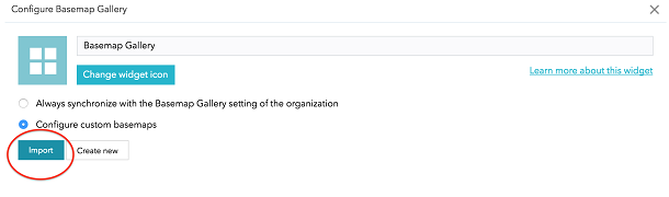 Customizing the basemap options in Web AppBuilder