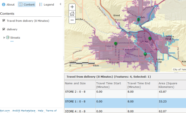 Selecting a polygon in an ArcGIS Online attribute table