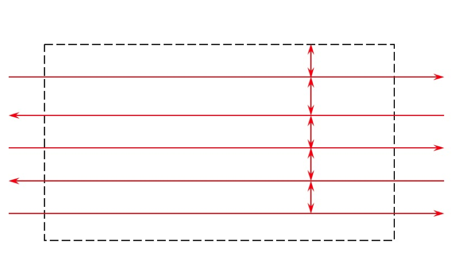 example of correct flight lines drawn