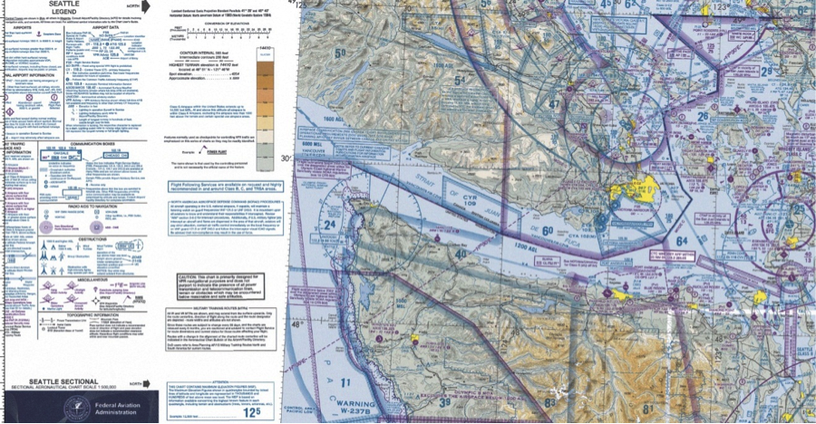 example of a sectional aeronautical chart