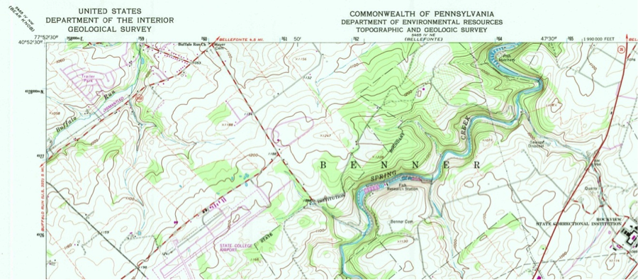 example of US Topo Quadrangle Map