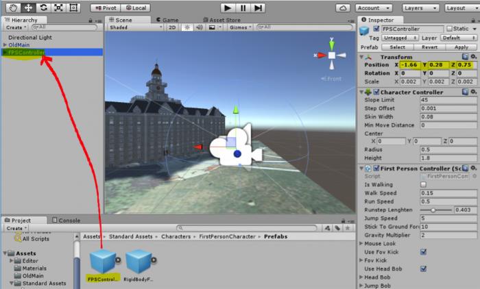 Walkthrough: Placing an Avatar in the Scene   GEOG 497: 3D Modeling