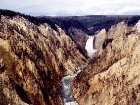 Lower Falls (a big waterfall), Grand Canyon of the Yellowstone River