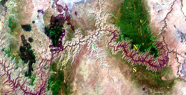 USGS Landsat image of the Grand Canyon.