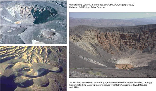Craters in Death Valley