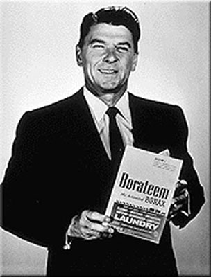Ronald Reagan (before he was president) advertising a laundry detergent containing borax.