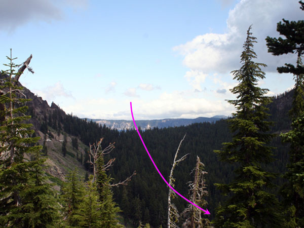 Valleys that once carried glaciers from Mt. Mazama