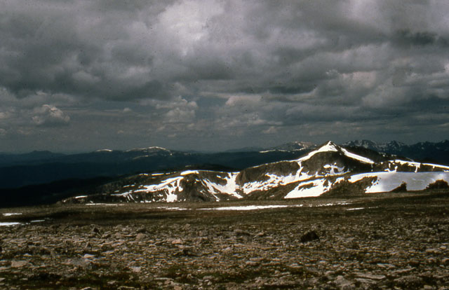Flattop Mountain crowned by tundra