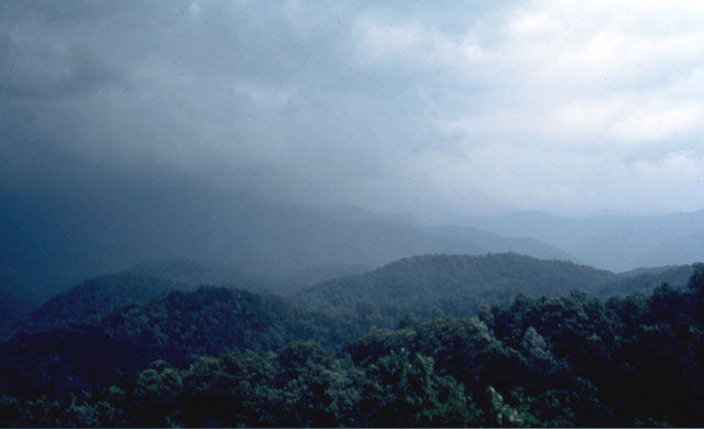 Thunderstorm over Great Smokey Mountains National Park.