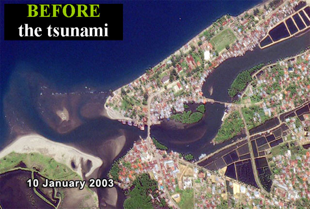 Aceh, NW Sumatra, Indonesia: BEFORE the tsunami.