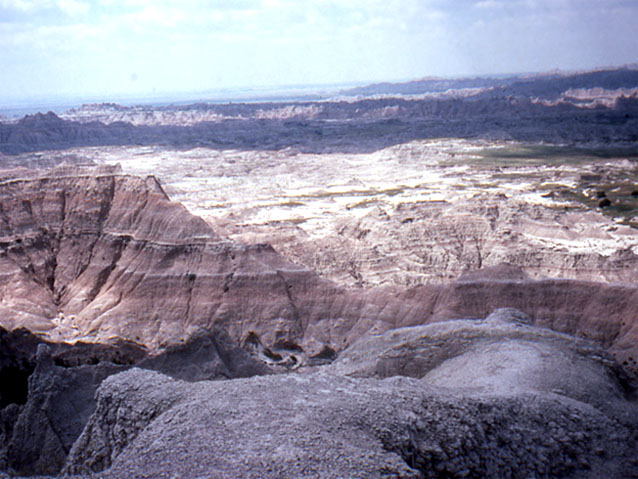 Badlands rock landscape