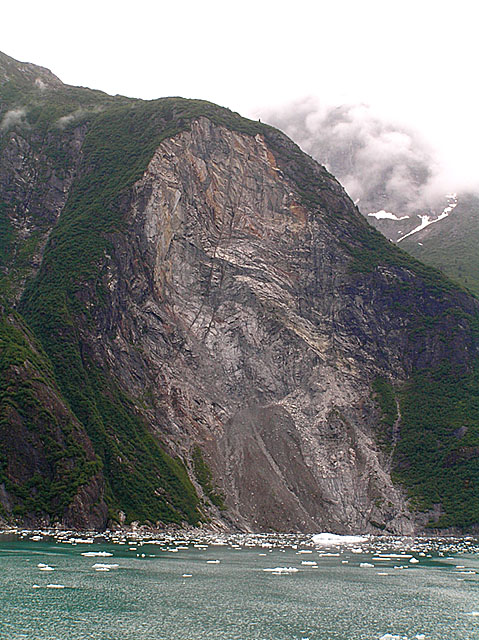 Half-mile-high landslide scar, Tracy Arm/Ford's-Terror Wilderness Area, Alaska