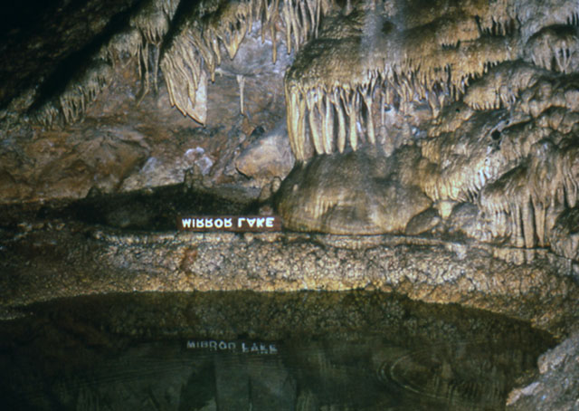 Mirror Lake in Carlsbad Caverns
