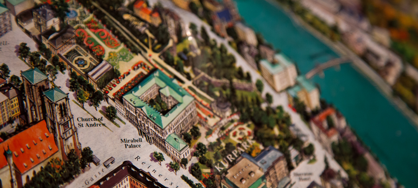 Decorative picture of a 3D map