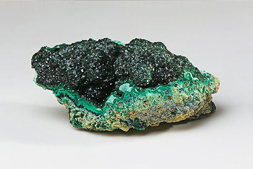 Malachite. Green/blue sparkly rock