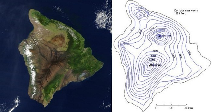 Topographic Map Of A Mountain.Making A Map Out Of A Mountain Meteo 3 Introductory Meteorology
