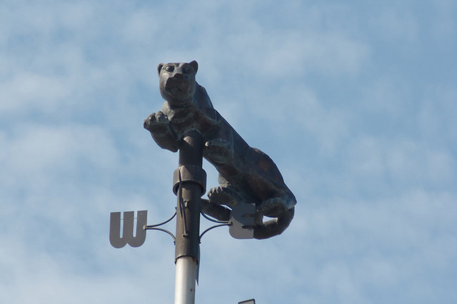 Photograph of a Nittany Lion wind vane