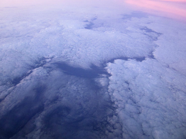 Clouds over the Arctic Ocean at sunrise