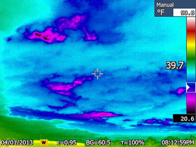 thermal image of clouds