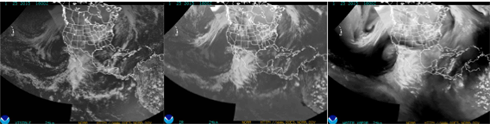 NOAA composite images of Northern Hemisphere