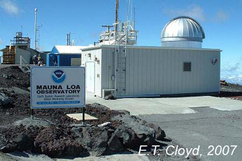Outside of the Mauna Loa Observatory.