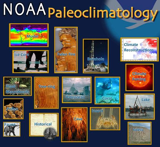 Various images from NOAA Paleoclimatology.