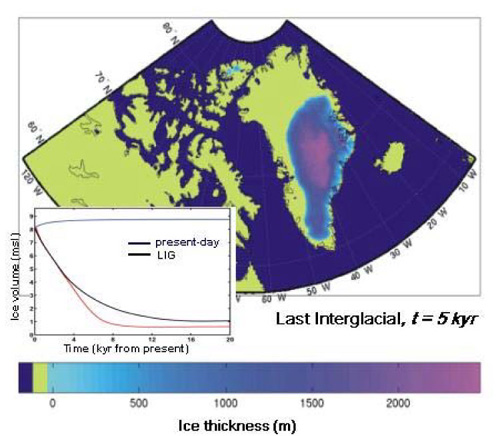 Simulation of Climate Change Influence on Greenland Ice Sheet Based on NCAR Climate Model