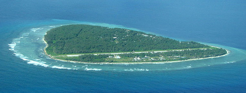 Picture of the Island of Falalop in the Ulithi Atoll.