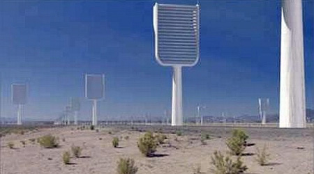 "Artificial Carbon-Capturing ""Super Trees"" in the desert"