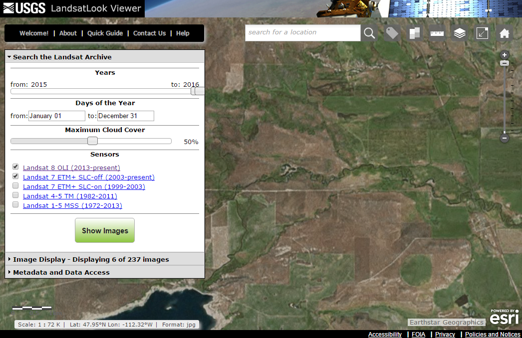 LandsatLook Screenshot