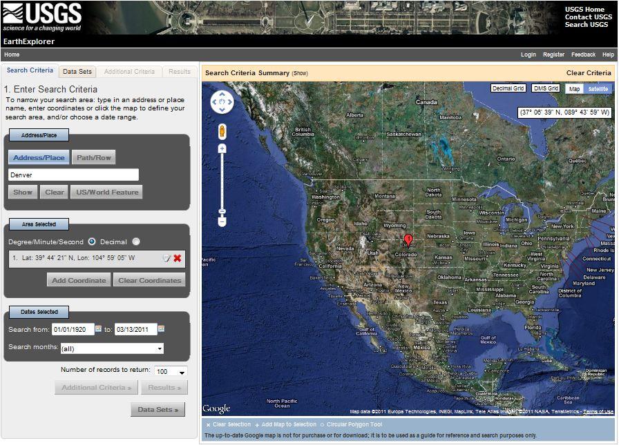 12  Using EarthExplorer to Find Landsat Data   The Nature of