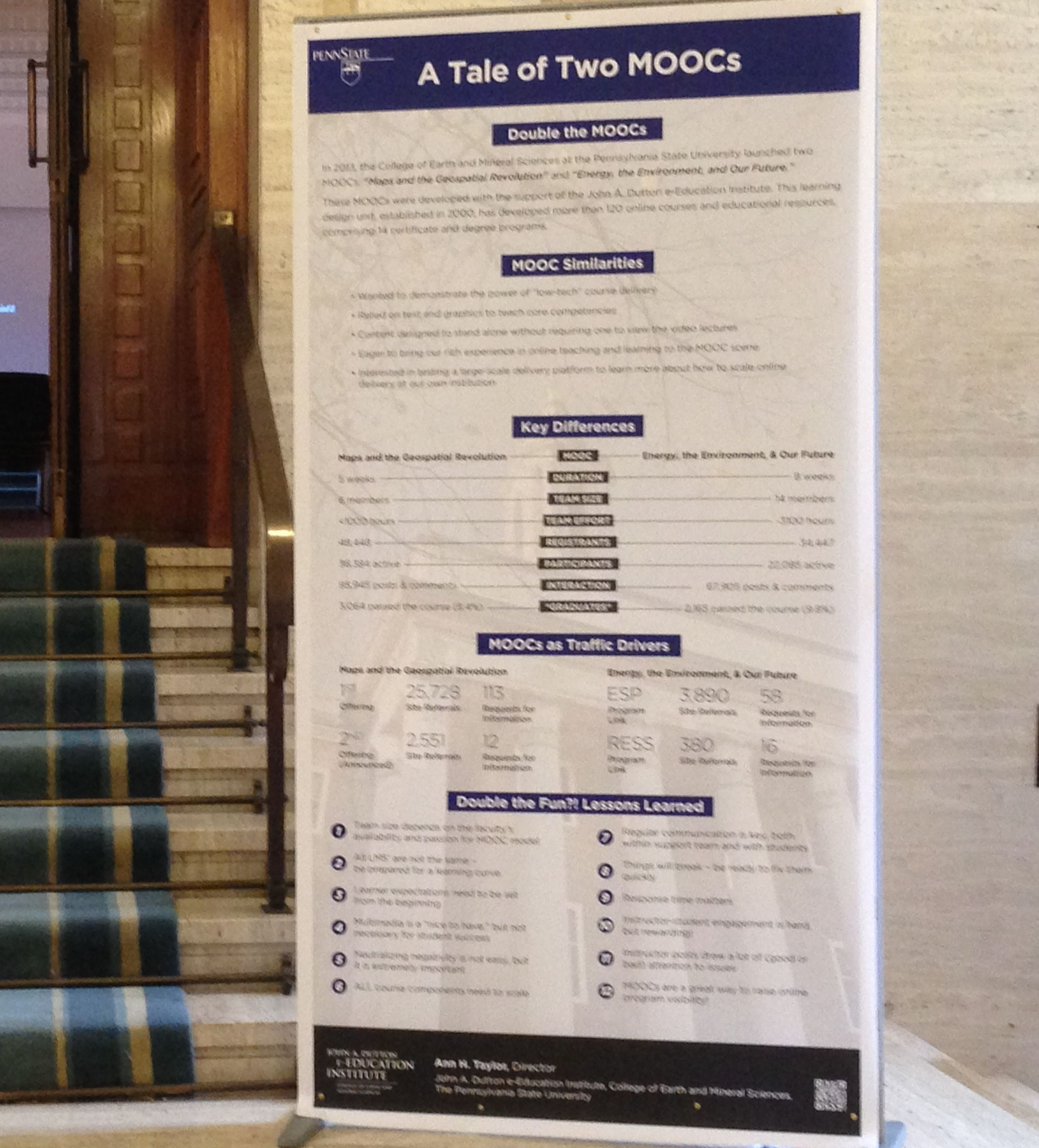 a tale of two moocs poster
