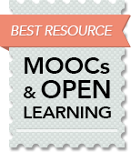 Badge for the top5onlinecolleges.org/mooc site