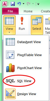 Screen capture of View List
