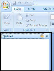 Screen capture of MS-Access